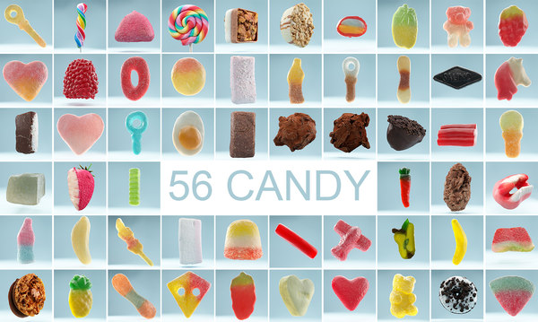 scanned candy 56 3D