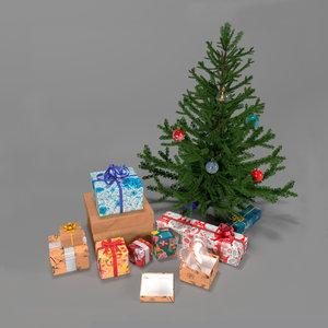 3D christmas tree gift