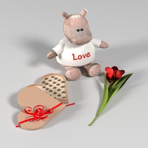 3D love story toy candy