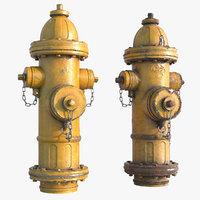 pbr scene hydrant model