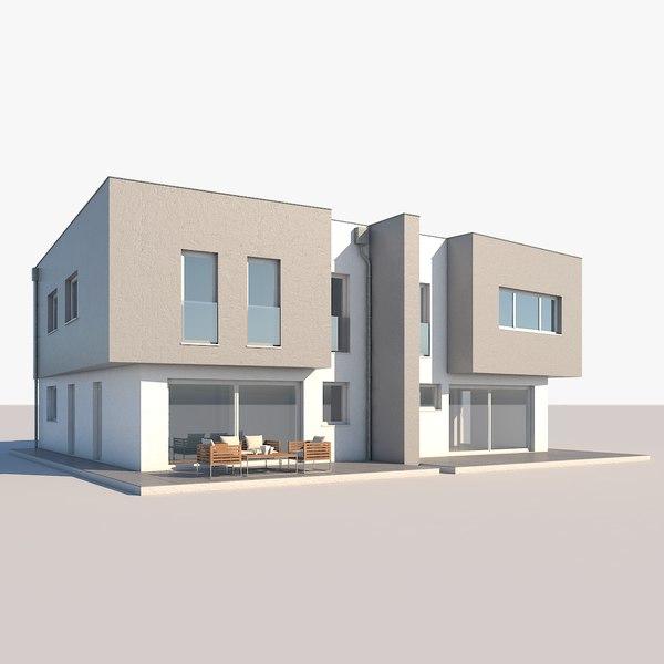 apartment building duplex house model