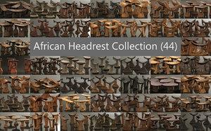 3D headrest 44 african