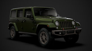 3D jeep wrangler unlimited 75th model