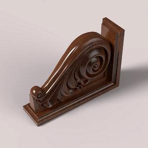 carved corbel cnc 3D model