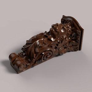 carved corbel cnc model