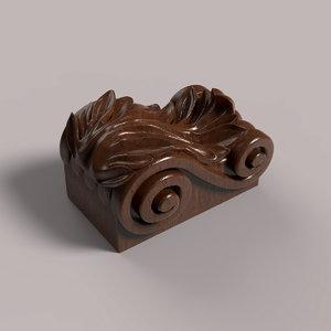 carved corbel cnc 3D