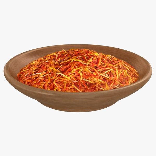 3D spice saffron
