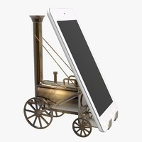 3D locomotive tablet stand