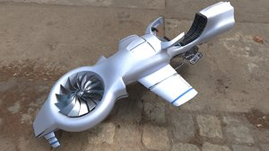 3D model sifi hoverbike