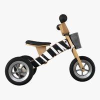 3D wooden balance trike