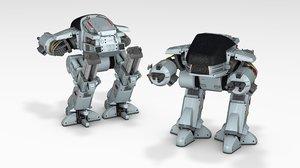 robocop ed 209 3D