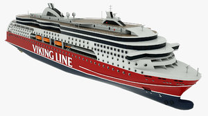 3D model passenger ferry viking line