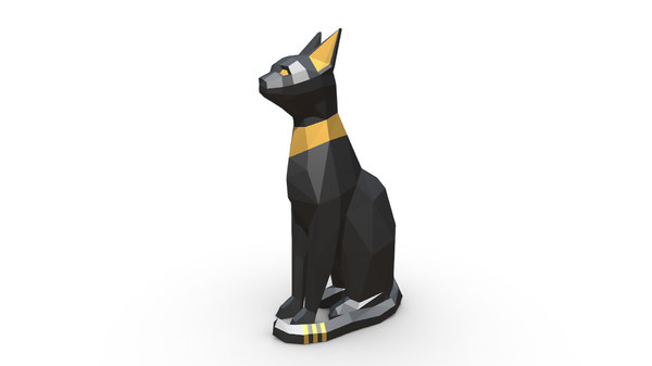 3D printed egypt cat figure
