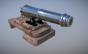 carronade 32 pound 3D model