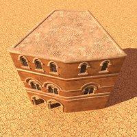 3D house desert
