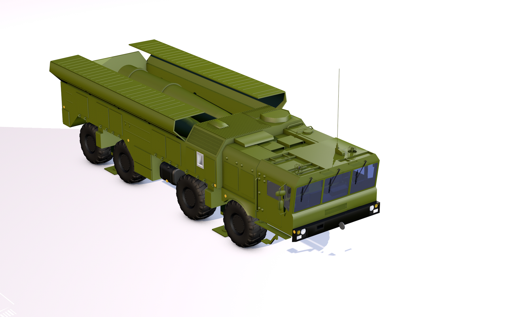 iskander missile launcher 3D model