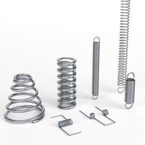3D hardware springs