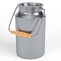 3D stainless steel milk container
