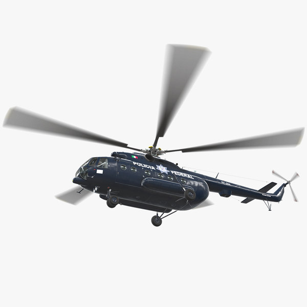 3D mi-17 mexican police animation