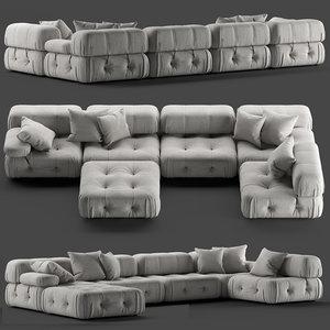 loftdesigne sofa 1868 seat 3D model