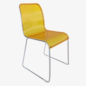 plastic modern chairs 3D model