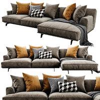 3D poliform tribeca chaise lounge