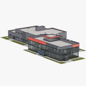 car dealership building 3D model