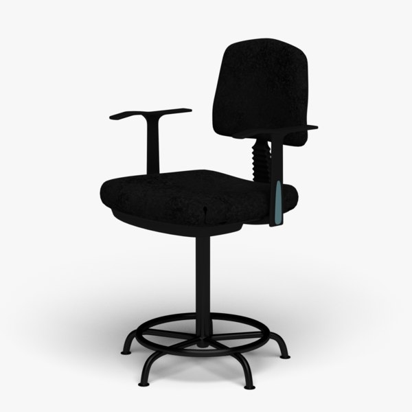 counter office chair 3D model