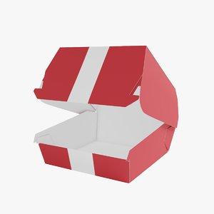 3D burger box model