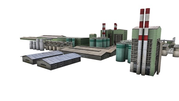 simulators industrial area factory building 3D model