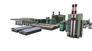 simulators industrial area factory building 3D model