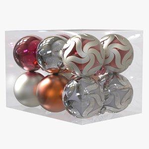 3D christmas balls pack model