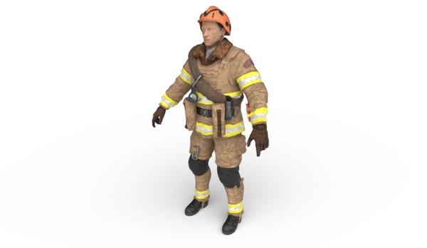 firefighter modeled model