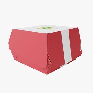 3D burger box 2 model