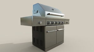 3D propane grill