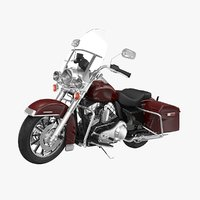 3D harley davidson road king model