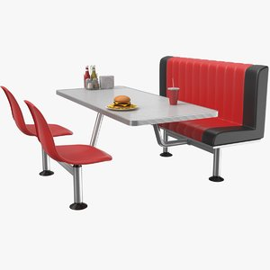 3D model real cafe table