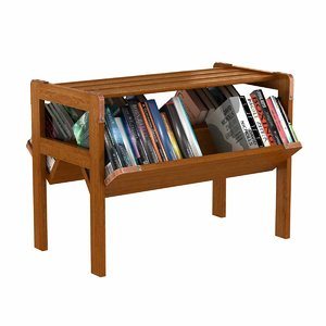 3D book shelf bookshelf jacques model