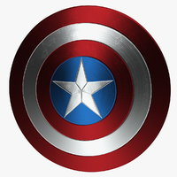 3D captain america shield
