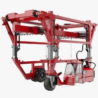 heavy duty straddle carrier 3D model