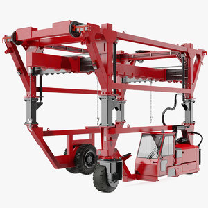 heavy duty straddle carrier 3D model