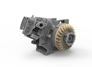 4 stroke engine 3D
