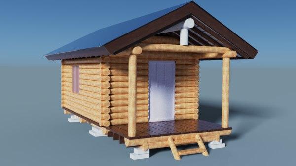 shack s wooden 3D model
