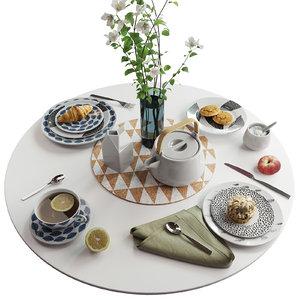 3D tableware food