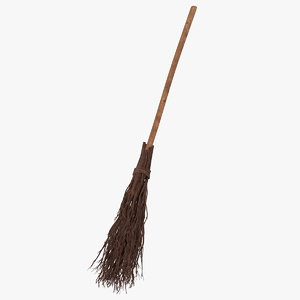 3D model classic witch broom