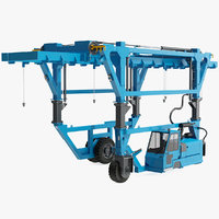 3D model straddle carrier new