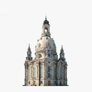 3D frauenkirche dresden