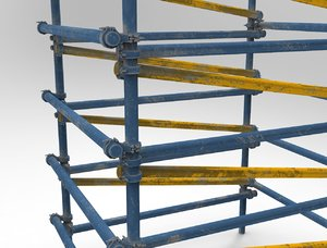 3D model scaffold industrial construction