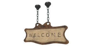 3D welcome sign model