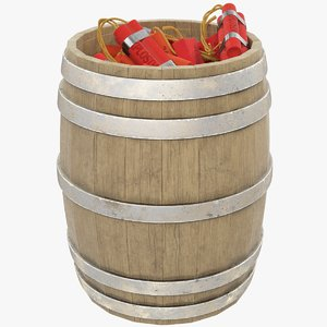 tnt barrel 3D model